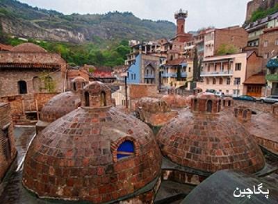 محله حمام های قدیمی در تفلیس