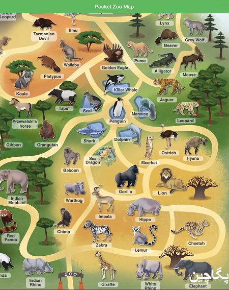 نقشه باغ وحش پوکت