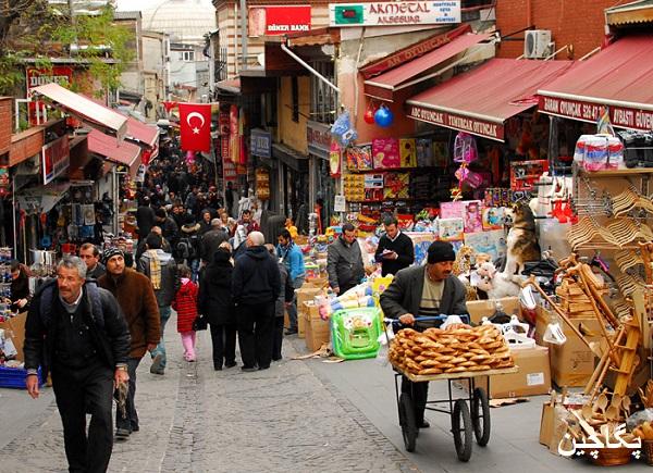 بازار سنتی اوزون چارشی در آنتالیا