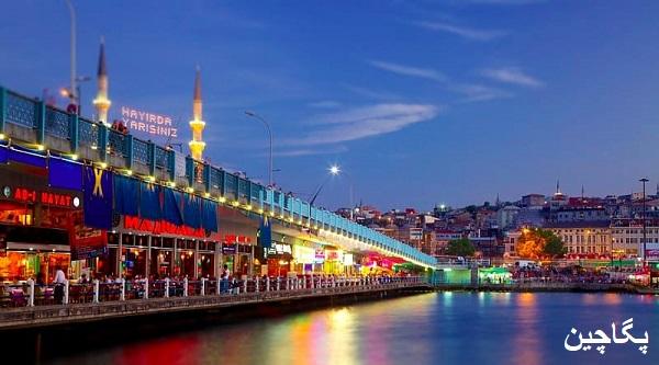 نمایی از پل گالاتا استانبول